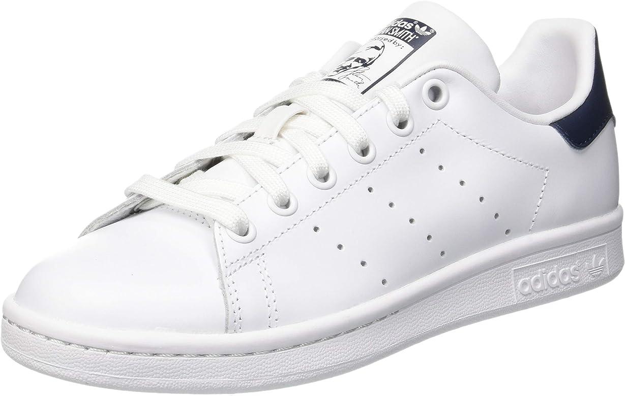adidas Originals Stan Smith Zapatillas de Deporte Unisex adulto, Blanco (Core White/Running White/New Navy), 42 EU (8 UK): adidas Originals: Amazon.es: Deportes y aire libre