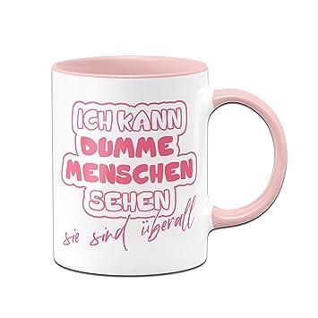 Tassenbrennerei Tasse Mit Spruch Ich Kann Dumme Menschen Sehen Burotasse Geschenk Fur Kollegen Tassen Mit Spruchen Lustig Kaffeetasse Rosa