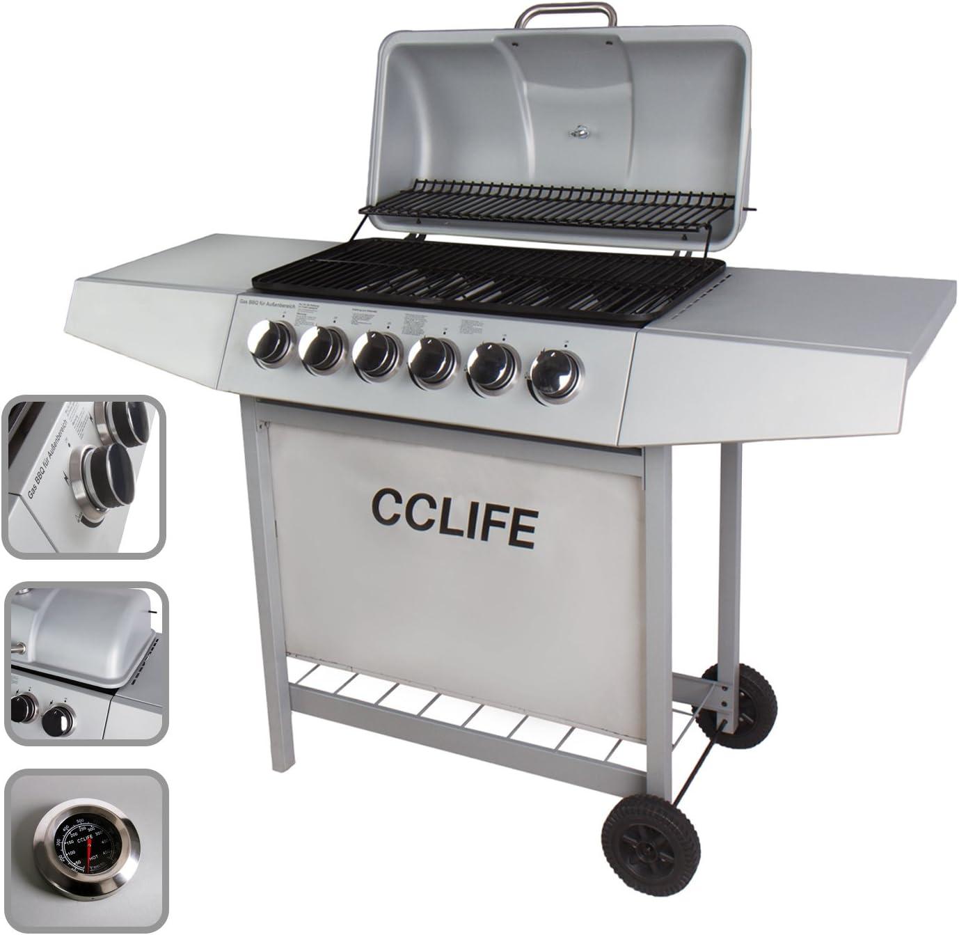 Colore:2+1 Nero CCLIFE BBQ Barbecue griglia Giardino Barbecue a Gas con 2+1bruciatori Principali