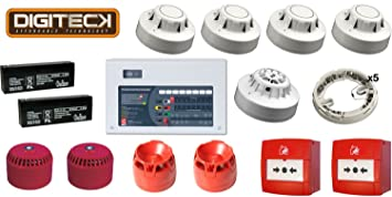 Amazon.com : All-In-One 2 Zone Fire Alarm Conventional Kit ...