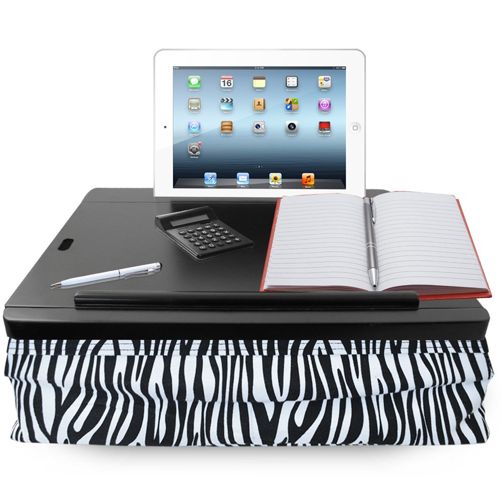 iCozy Portable Cushion Lap Desk With Storage - Zebra