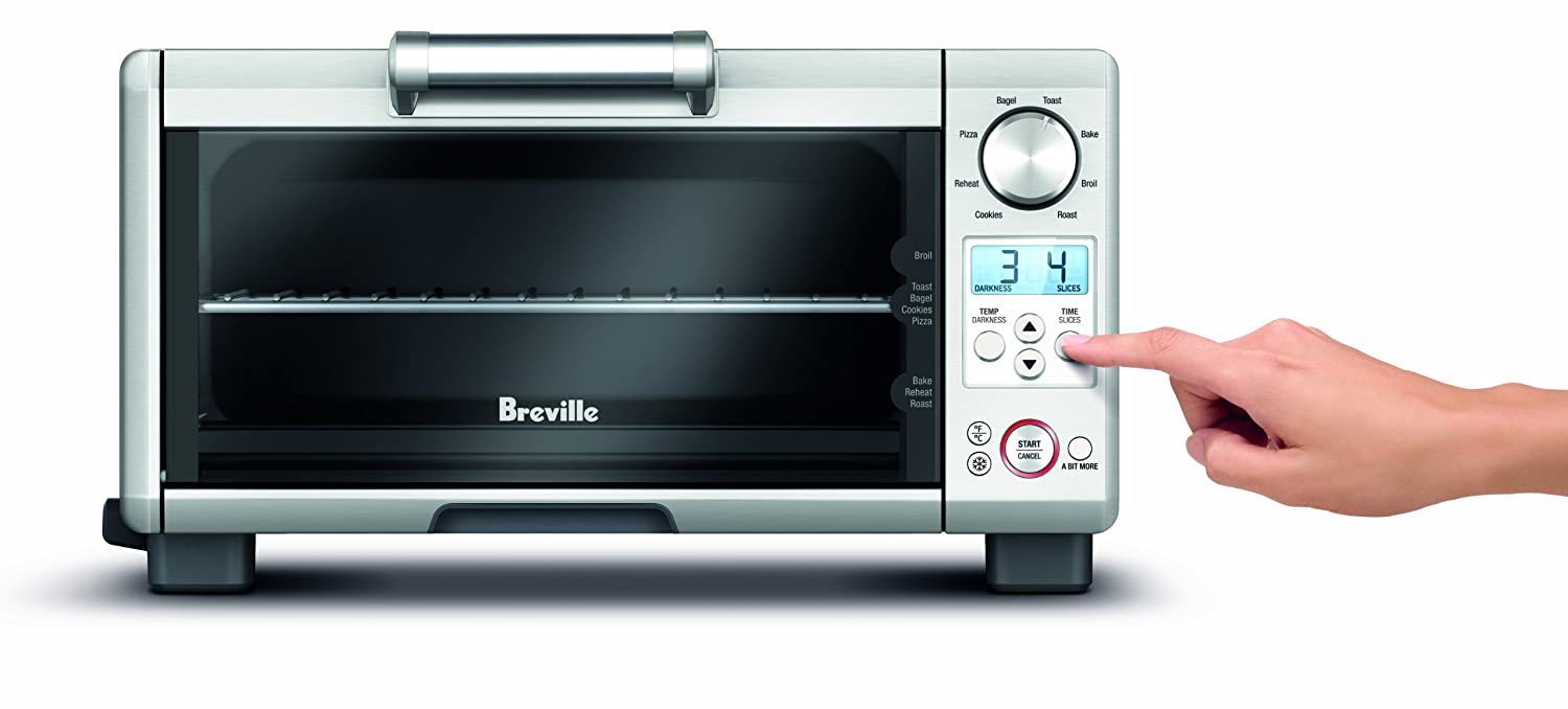 Best Under Cabinet Toaster Oven Amazoncom Breville Bov450xl Mini Smart Oven With Element Iq