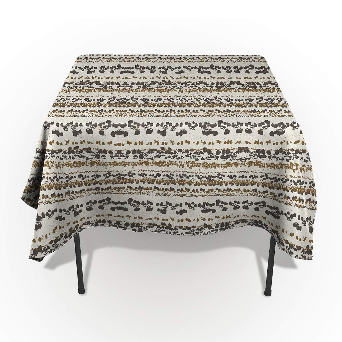 SODIKA テーブルクロス しわ防止 テーブルカバー こぼれ防止 キッチン用 アイランドのクラウディフォレストのスタジオの眺め ブラックとホワイト 53