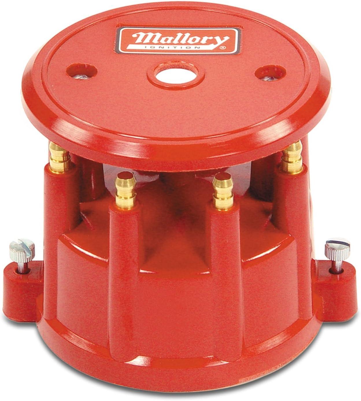 Mallory 208M Distributor Cap (8Cyl Screw Down Red) 71q70IQOPwL