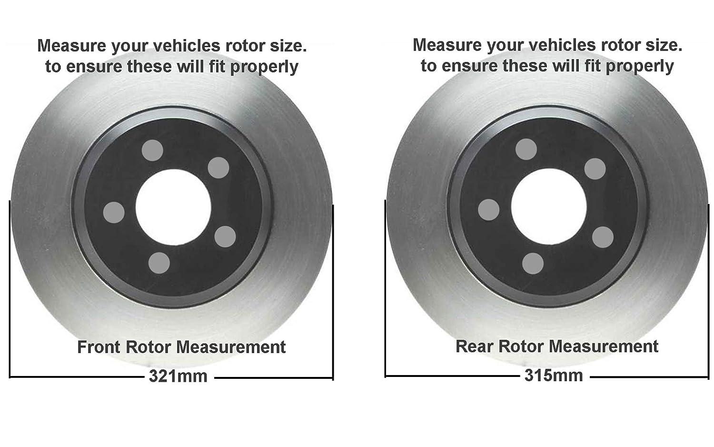 Brake System Rotors 2013 For Buick Regal Front Disc Brake Rotors and Ceramic Brake Pads Note: 296 mm Rotor Dia