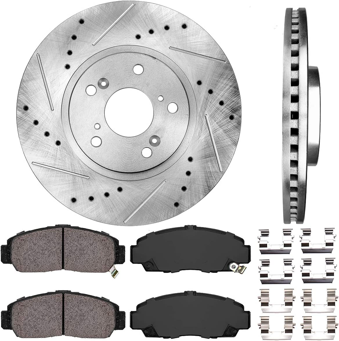 Max Brakes Front Carbon Ceramic Performance Disc Brake Pads KT005651 1999 99 2000 00 2001 01 2002 02 2003 03 Acura TL; Incl Fits Type S Models