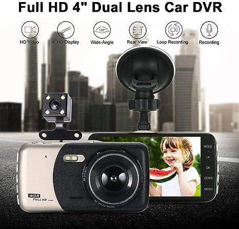 "1080P IPS Dual Lens Car Dash Cam Dashboard Camera Driving DVR 170° Camcorder 4/"""