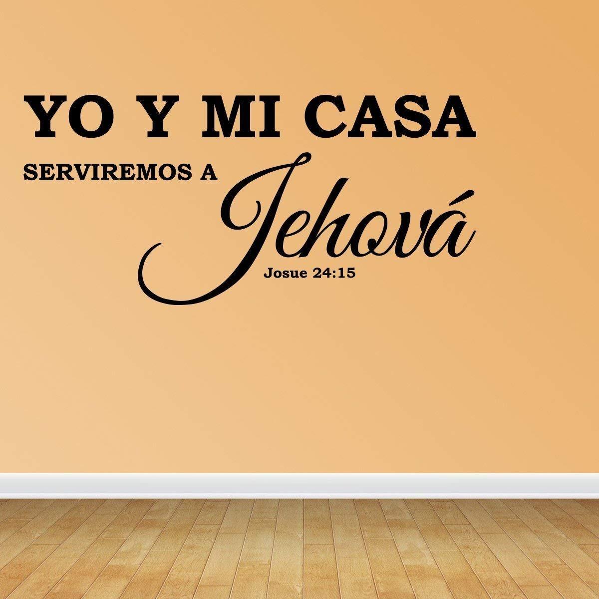 Amazon.com: Vinilo Decorativo Para Pared Yo Y Mi Casa Serviremos A Jehová Josue 24:15 Wall Decal Quote: Home & Kitchen