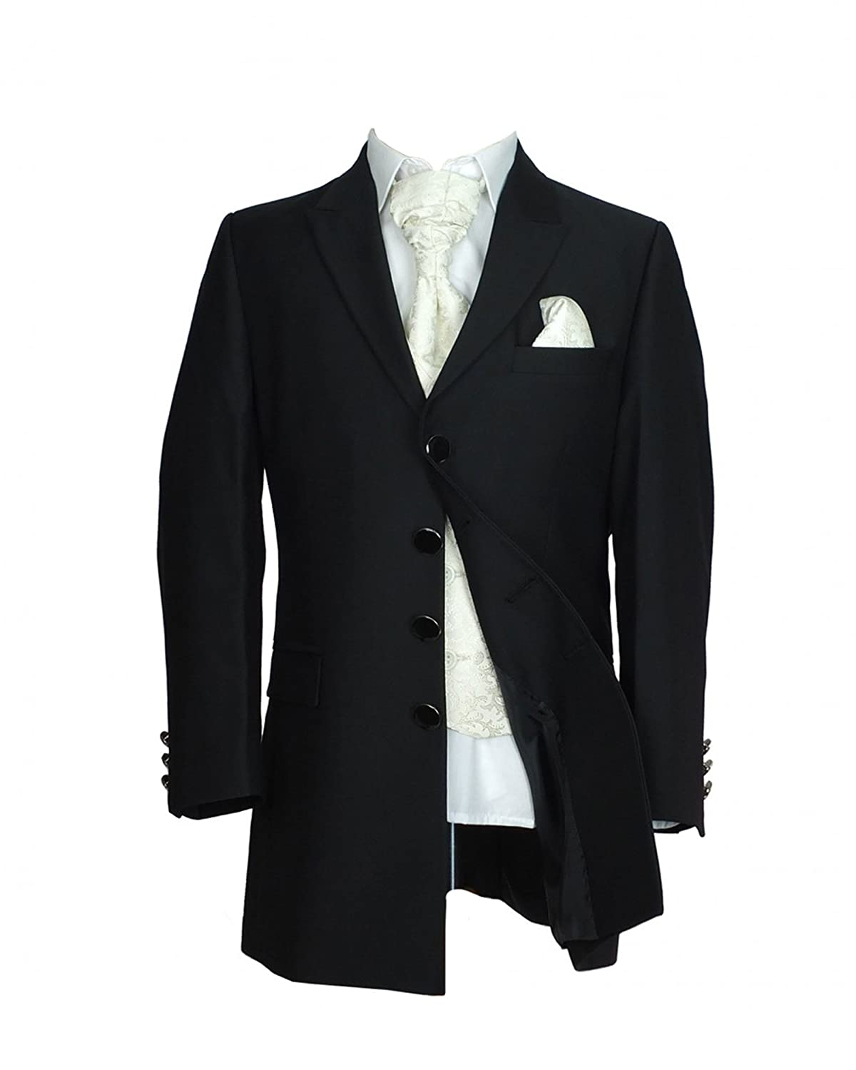 Boys 5 Piece Black Ivory Prince Edward Style Tail Suit by Sebastian Le Blanc