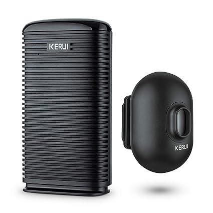 KERUI DW9 - Alarma inalámbrica resistente a la intemperie para exteriores PIR Detector de movimiento para
