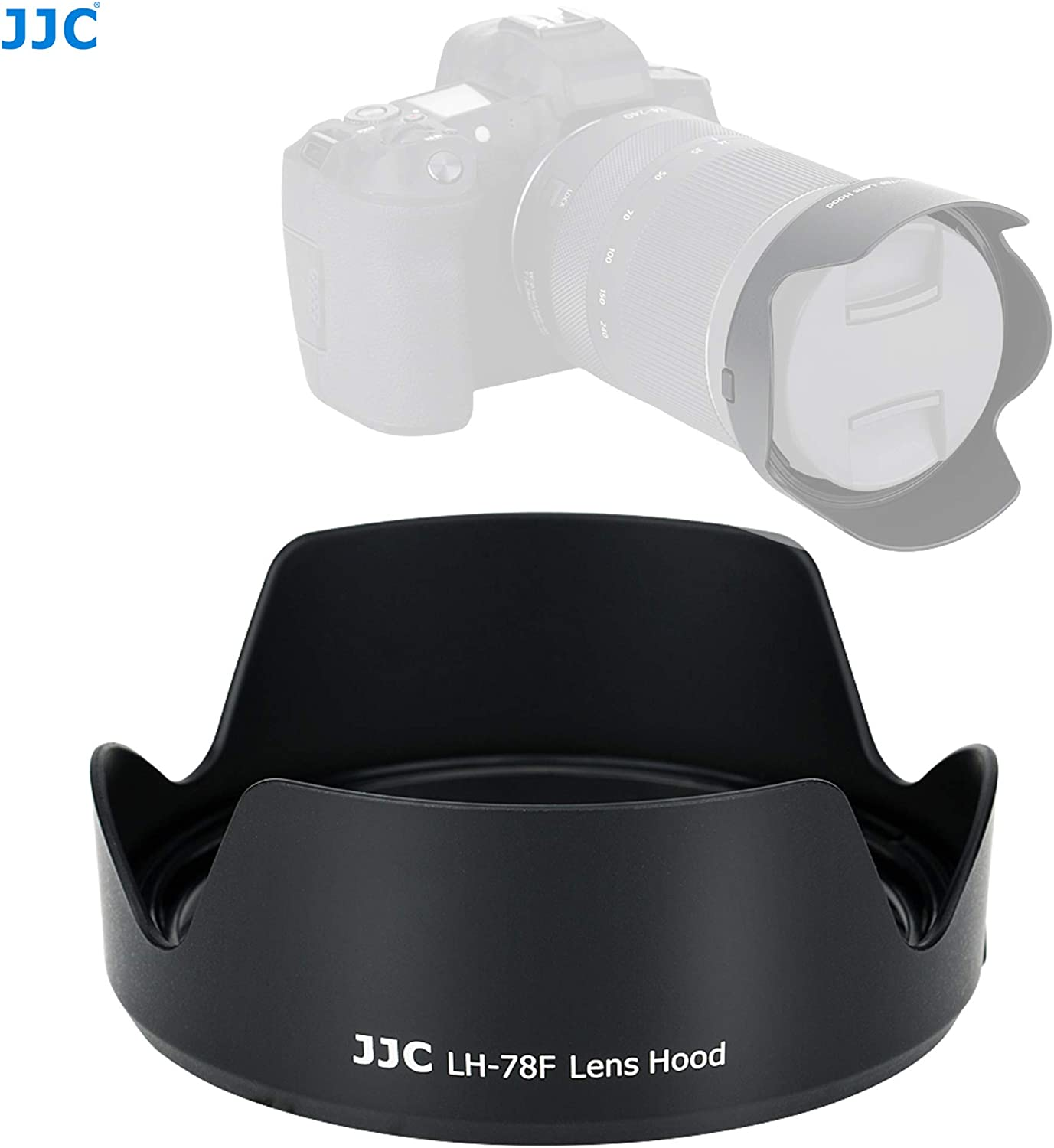 Non-Glare Matte Finish Reversible Replacement of Canon EW-78F EW78F JJC LH-78F Dedicated Petal Tulip Bayonet Lens Hood for Canon Canon RF 24-240mm f//4-6.3 is USM Lense Canon RF 24-240 Hood Shade