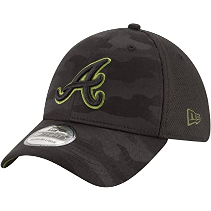 first rate 35731 fb761 New Era Authentic Atlanta Braves Memorial Day Flex Stretch Fit 39Thirty -  Black Camo (