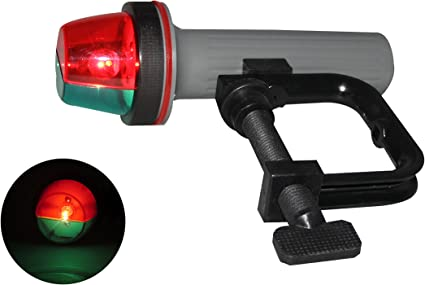 Battery Operated LED CLAMP MOUNT PORTABLE STERN ANCHOR BOAT NAVIGATION LIGHT