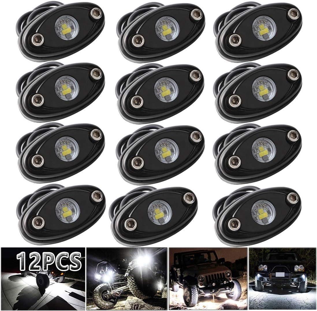 10x White Truck Bed Under Body Rock LED Modules Lighting Light Kit For Car//Boat