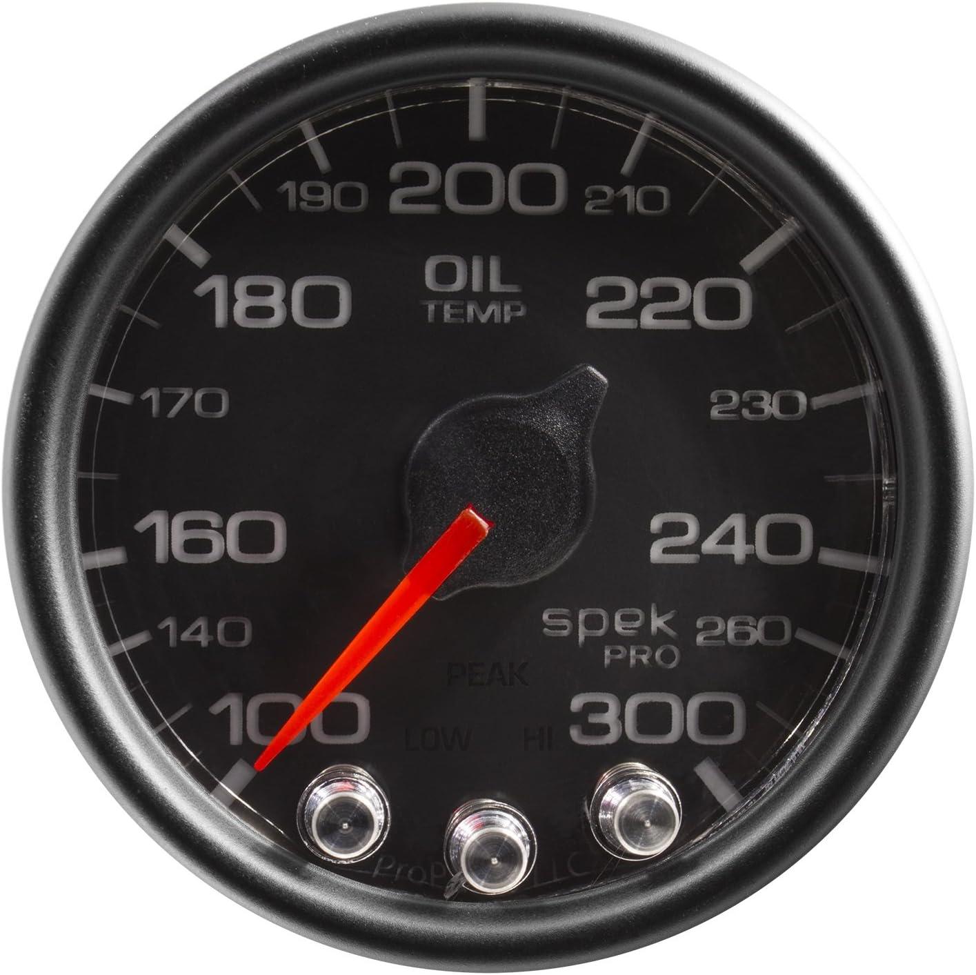 300/ºf Blk//Chrm AUTO METER P322318 Gauge Stepper Motor W//Peak /& Warn Oil Temp 2 1//16 Spek-Pro