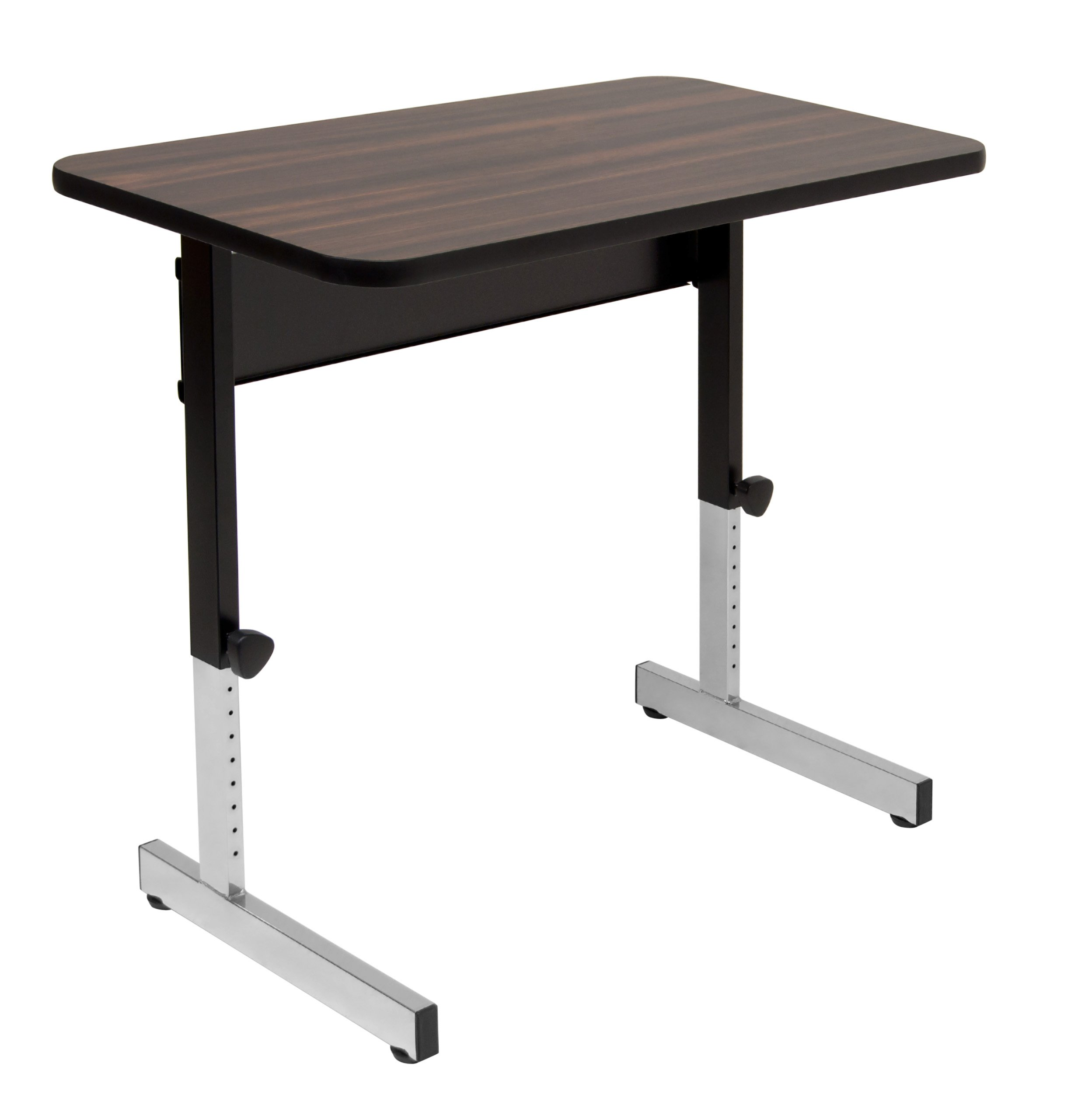 Calico Designs Adapta Height Adjustable Office Desk, All-Purpose Utility Table, Sit to Stand up Desk Home Computer Desk, 23'' - 32'' in Powder Coated Black Frame and 1'' Thick Walnut Top, 36 Inch by Calico Designs