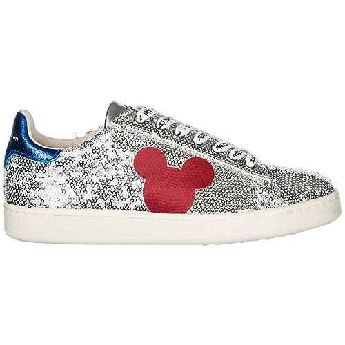 MOA Master of Arts Sneakers Disney Mickey Mouse Donna Silver  Amazon.it   Scarpe e borse 0877a25fe6b
