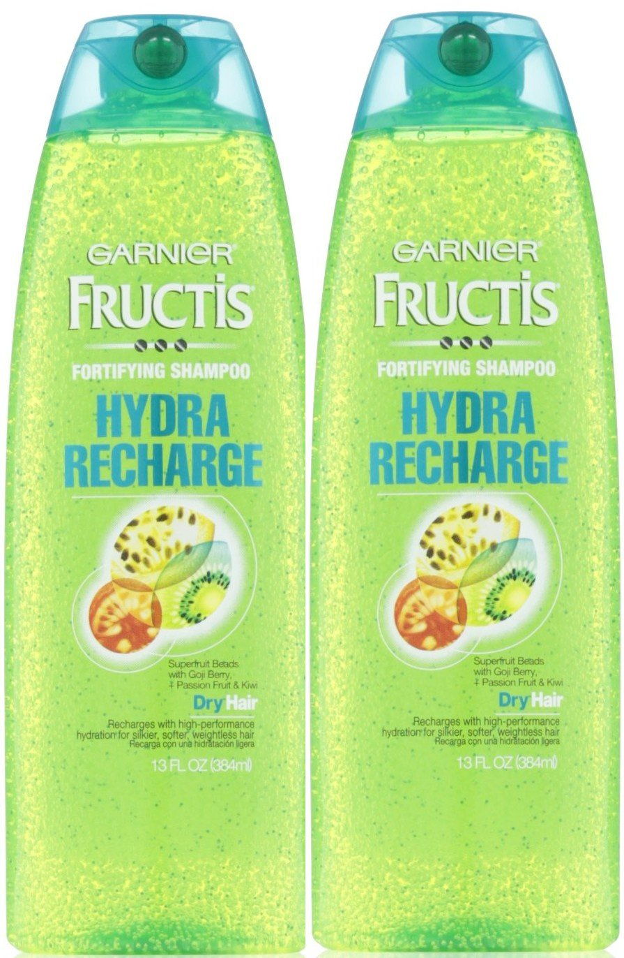 Garnier Fructis Fortifying SHampoo, Hydra Recharge for All Hair Types 13 oz (Pack of 2)