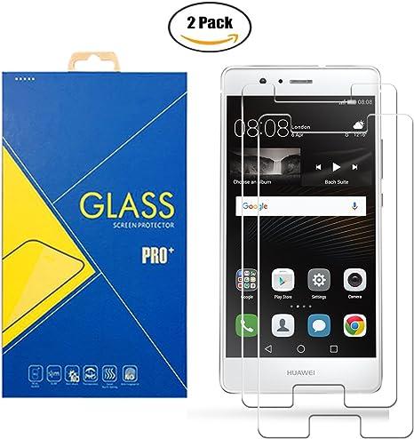 2 Pack] Protector Cristal Vidrio Templado Huawei P9 Lite VNS-L31 / L21 / L22 / L23 / L53 – Pantalla Antigolpes y Resistente al Rayado: Amazon.es: Electrónica