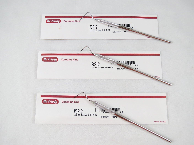 Dental Thin Williams Color Code Probe PCP12 Kit 3/Pcs HU FRIEDY Original