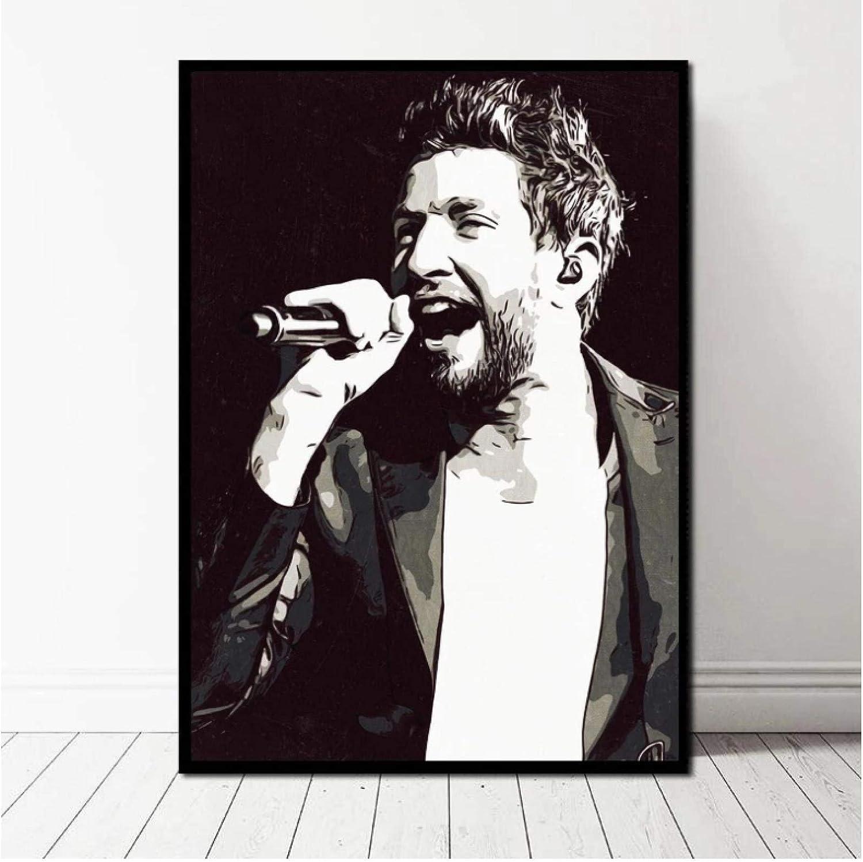 ZFLSGWZ Brett Eldredge Poster Canvas Print Home Decor Wall Art 50x70cm No Frame
