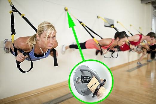 Yoga Schaukel, 4x Hängebänder Anker   Deckenhalterung für Turnringe