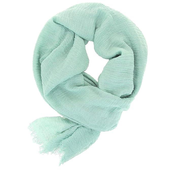 ad7e5010 KARL LOVEN Pañuelo Mujer Bufanda Arrugada Fular Pashmina Cuello - 30 Colores