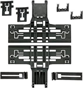 Pack of 8 W10546503 Upper Rack Adjuster Kit For Whirlpool Kitchen Aid Dishwasher With W10195840 Dishwasher Top Rack Adjuster W10195839 Dishwasher Rack Adjuster W10250160 Arm Clip-Lock