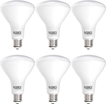Sunco Lighting 6 Pack BR30 LED Bulb, 11W=65W, 5000K Daylight, 850 LM, E26 Base, Dimmable, Indoor Flood Light for Cans - UL & Energy Star