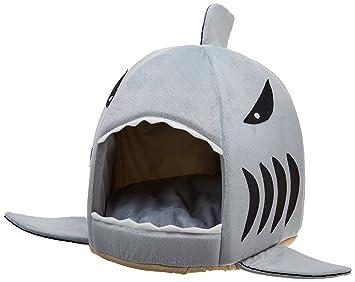 WANNA cama para perros lavable perro almohada dormir cueva Tiburón - Perros sofá - M 42 x 42 x 37 cm: Amazon.es: Productos para mascotas