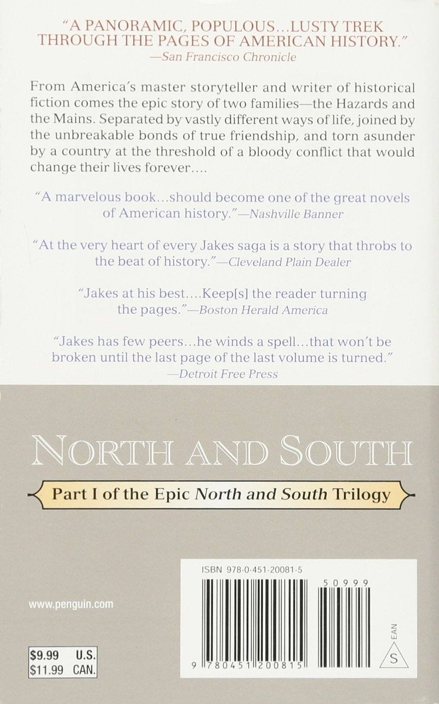 Amazon: North And South (north And South Trilogy Part One)  (9780451200815): John Jakes: Books