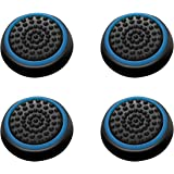 Insten [2 Pair / 4 Pcs] Wireless Controllers Silicone Analog Thumb Grip Stick Cover, Game Remote Joystick Cap for PS4 Dualshock 4/ PS3 Dualshock 3/ PS2 Dualshock/ Xbox One/ Xbox 360, Black/Blue