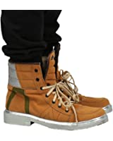 Marcus Cosplay Shoes Brown Cow Suede Lace-up Ankle Boots Custom Made