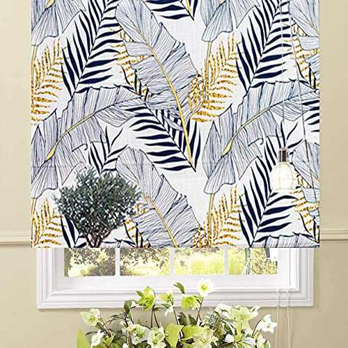 Artdix Roman Shades Blinds Window Shades – Palma 20 W x 36L Inches 1 Piece Blackout Solid Fabric Custom Made Roman Shades for Windows, Doors, Home, Kitchen, Living Room