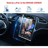 LFOTPP Tesla Model X/Model S 17-Inch Car Navigation Screen Protector, Center Touch Infotainment Media Tempered Glass Touch Screen Protector for 60 60D 70 70D P85D 90D 100 P100D 75D P90D P100D
