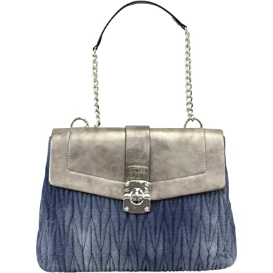 d99f36bfe44 GUESS Women s Keegan Shoulder Bag Denim Handbag  Handbags  Amazon.com