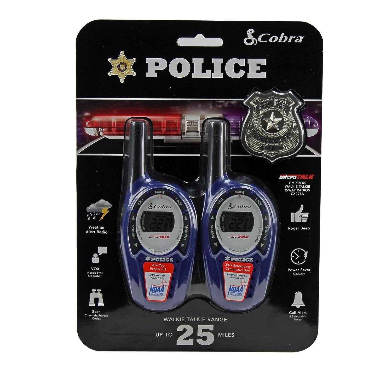 amazon com cobra microtalk walkie talkies 25 mile range blue