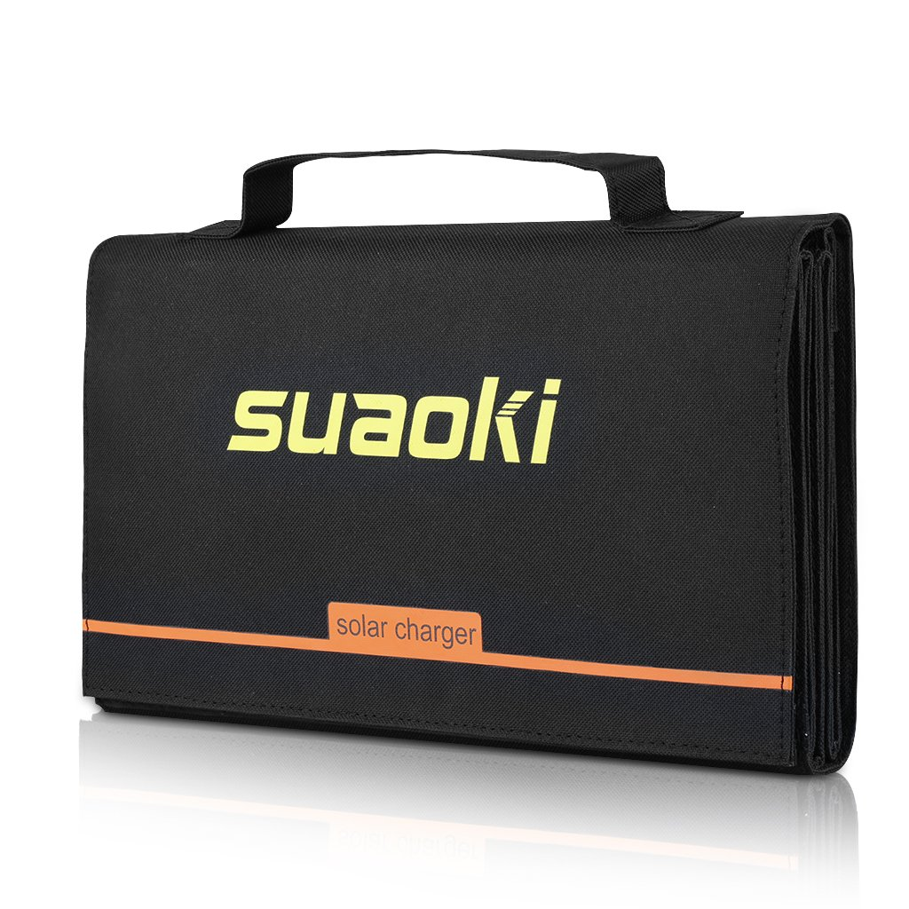 Suaoki 40W Portable Sunpower Mono-crystalline Solar Panel With DC 18V and Usb 5V Output Charger for Laptop Tablet SLR GPS Cellphone Other 5-18V Device by SUAOKI (Image #7)