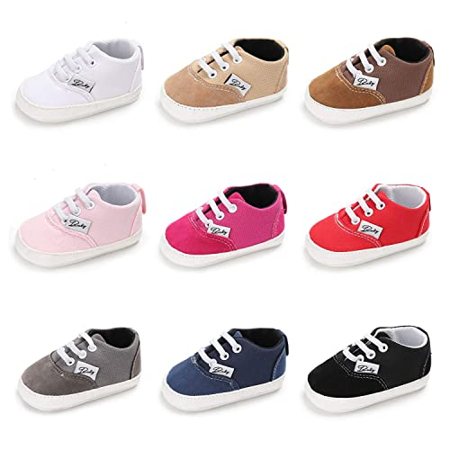 ff9c08a6dee Baby Boys Girls Canvas Toddler Sneaker Anti-Slip First Walkers Candy Shoes  0-18