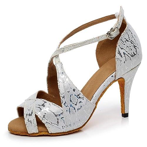Latina Salón Zapatos Mujer Para De Baile Elobaby Hebilla wqvO06nF