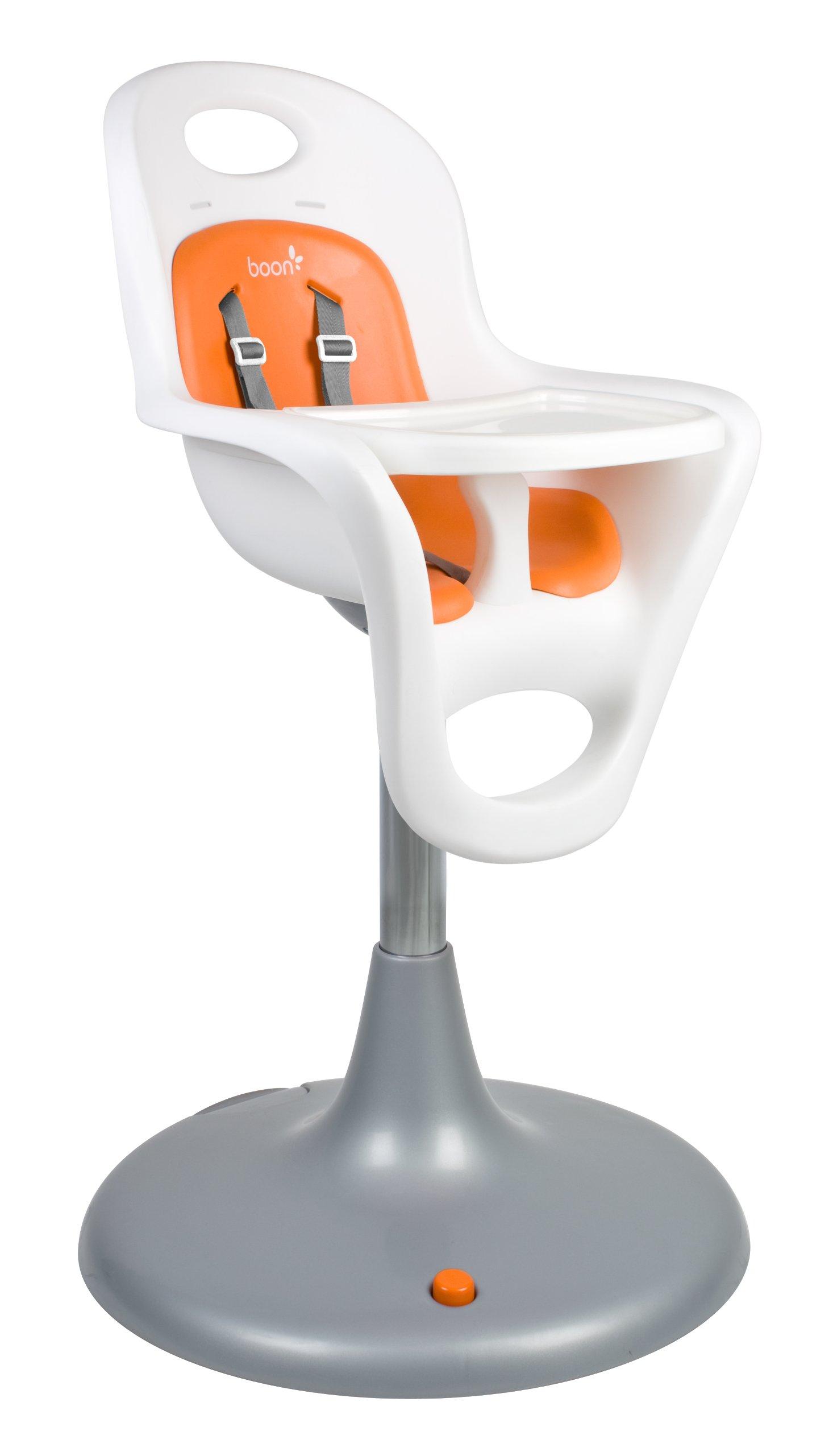 Boon Flair Highchair - Orange Pad - White Base