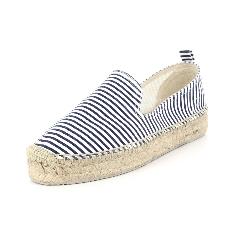 SONALI  9718 Lana / Stripe,  Damen Espadrilles Weiß / Lana blau 4515ac