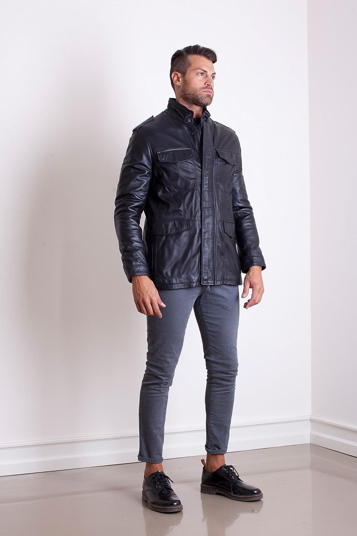 Leather jacket olx - D Arienzo Toni Black Lamb Leather Jacket Four Pockets Amazon Co Uk Clothing