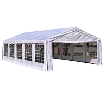 Outsunny 16u0027W x 32u0027D Outdoor Carport Canopy Party Tent with Sidewalls -  sc 1 st  Amazon.com & Amazon.com : Outsunny 16u0027W x 32u0027D Outdoor Carport Canopy Party ...
