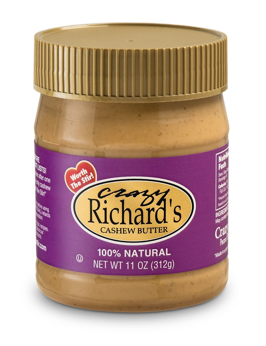 Crazy Richard's Natural Cashew Butter - 11oz Jar