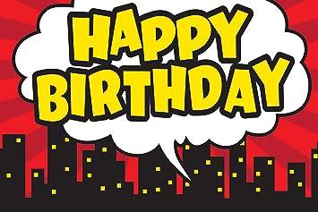 Maestro creado recursos superhéroe Feliz Cumpleaños Postal ...