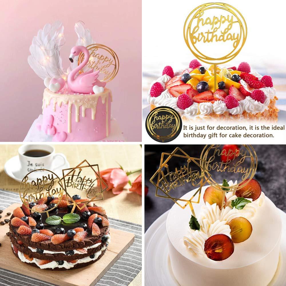 Anniversaire de Mariage Résine À faire soi-même Craft Cupcake Décoration Cake Topper Noir Blanc