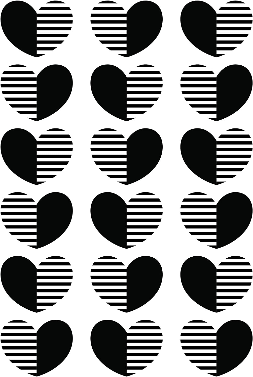 Solid and Stripe Hearts Darice 30041335 Embossing Folder