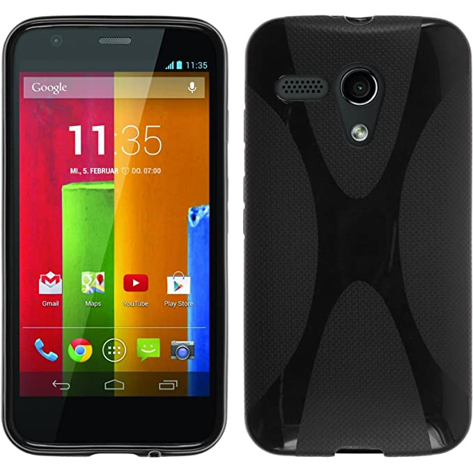150 opinioni per Custodia Silicone per Motorola Moto G- x-Style nero- Cover protettive