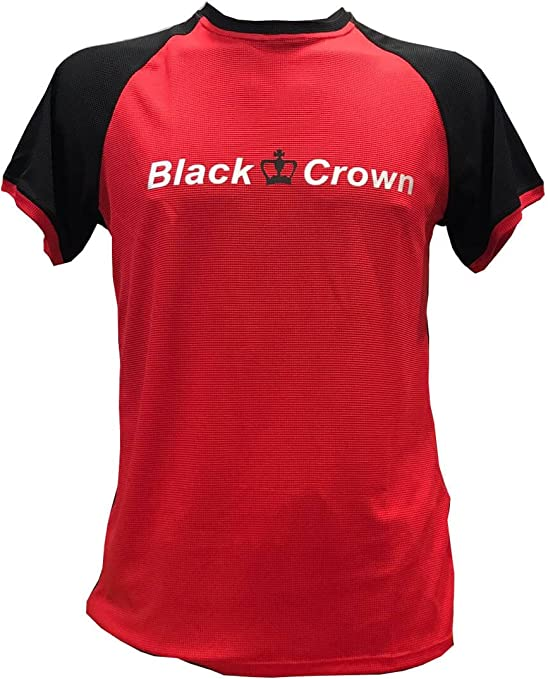 Camiseta Padel Black Crown X5 Rojo/Negro -XL: Amazon.es: Deportes ...